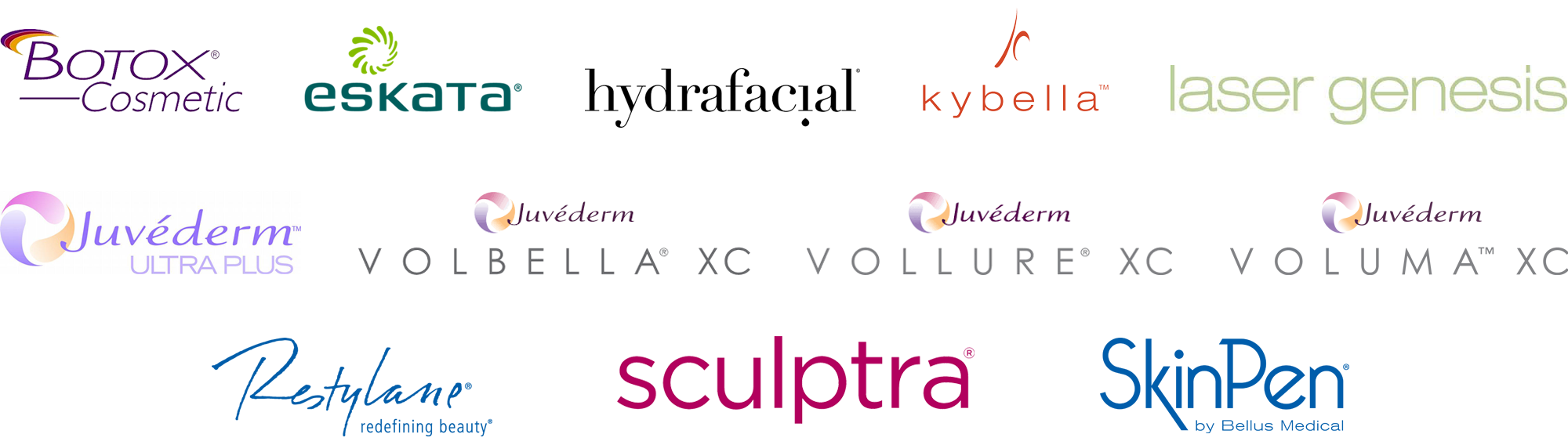 Shades Valley Dermatology offers the following cosmetic treatments: Juvederm Ultra Plus XC, Volbella XC, Voluma XC, Vollure XC, Restylane-L, Sculptra, Kybella, Botox Cosmetic, HydraFacial, SkinPen, Laser Genesis and Eskata.